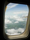 Sky as seen window of an aircraft Royalty Free Stock Photos