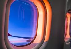 Sky as seen through window of an aircraft Stock Image