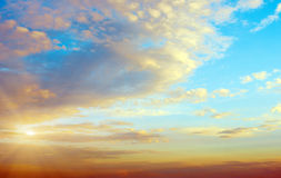 Sky atmosphere clear clouds Royalty Free Stock Photos