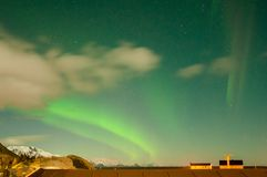 Sky with aurora, northern light, stock photo