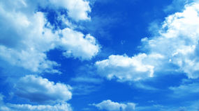 Sky background. Blue sky and white clouds Stock Photo