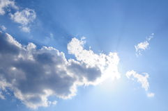 Sky background. Blue sky and white clouds Royalty Free Stock Photography