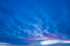 Sky background. Sky with blue clouds - abstract sky background Stock Photo