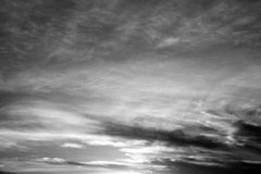 Sky background. Sky with clouds - abstract black and white sky background stock image