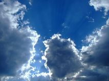Sky background. Sky, sun and clouds background Stock Image