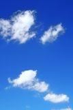 Sky background. Summer sky background with beautiful cumulus clouds stock image