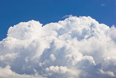 Sky background. Blue sky and white cloud Stock Images