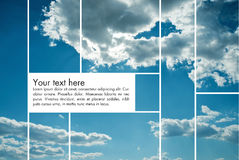 Sky Background. Blue sky background separated in panels Royalty Free Stock Image