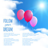 Sky Background with Balloons. Royalty Free Stock Photos