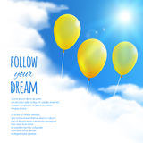 Sky Background with Balloons. Stock Image