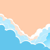 Sky background with beautifull clouds.Vector illustration for te Royalty Free Stock Images