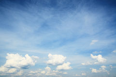Sky. Background from blue sky with clouds Stock Images