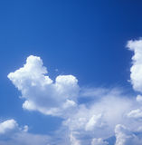 Sky background. Blue sky and white clouds. Useful as background Royalty Free Stock Photo