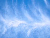 Sky background with clouds. Royalty Free Stock Photo