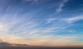 Sky background with clouds as a panorama banner Stock Photos