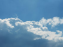Sky background with clouds. Evening Stock Photography