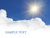 Sky background with copy space Royalty Free Stock Photo