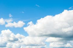 Sky background. Dramatic cloudy sky clouds - natural sky landscape Stock Photography