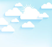 Sky background in flat style Royalty Free Stock Image