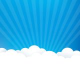 Sky Background. With fluffy clouds Royalty Free Stock Images