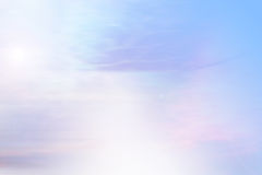 Sky background layer with sun rays Stock Image