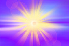 Sky background with a magnificent sun burst with lens flare royalty free illustration