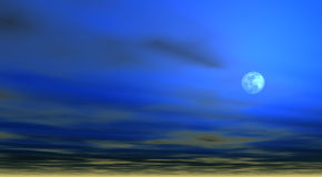 Sky background with Moon [4] Royalty Free Stock Images