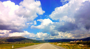 Sky Background. Nature background in south Albania stock images