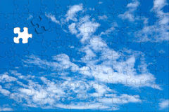 Sky background puzzle Royalty Free Stock Photography