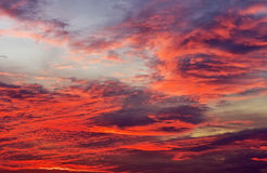 Sky background with red colours Royalty Free Stock Images
