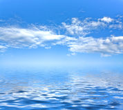 Sky background and sea Royalty Free Stock Image