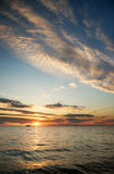 Sky background and sea on sunset Royalty Free Stock Images