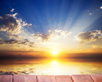 Sky background and sea on sunset. Royalty Free Stock Photos