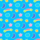 Seamless sky pattern and background vector illustration vector illustration