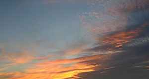 Sky background with soft clouds. Sky background sunset sunrise with soft clouds Stock Image