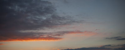 Sky background with soft clouds. Sky background sunset sunrise with soft clouds Stock Photo