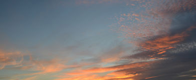 Sky background with soft clouds. Sky background sunset sunrise with soft clouds Royalty Free Stock Photo