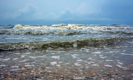 Sky in the background a stormy sea Royalty Free Stock Images