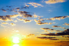 Sky background on sunrise. Royalty Free Stock Photos