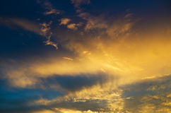 Sky background on sunrise. Royalty Free Stock Photo