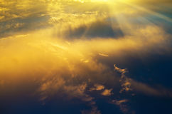 Sky background on sunrise. Stock Photo