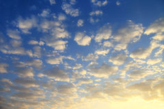 Sky background on sunrise. Nature composition. Royalty Free Stock Photography