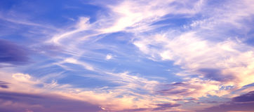 Sky Background on Sunrise Royalty Free Stock Photos