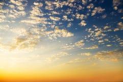 Sky background on sunset. Stock Image