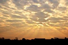 Sky background on sunset. Stock Photo
