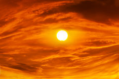 Sky background on sunset. Royalty Free Stock Images