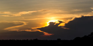 Sky background on sunset. Royalty Free Stock Photo