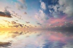 Sky background on sunset. Stock Photography