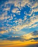 Sky background on sunset Stock Photos