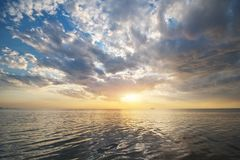 Sky background and water reflection royalty free stock images